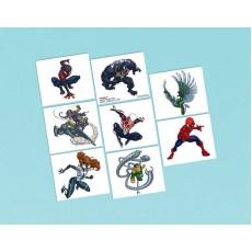 Spider-Man Webbed Wonder Tattoo Favours 5cm x 4cm 8 Tattoos