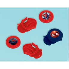 Spider-Man Webbed Wonder Mini Disc Shooters Favours Pack of 12