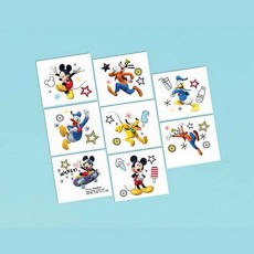 Mickey Mouse On The Go Tattoo Favours 5cm x 4cm 8 Tattoos