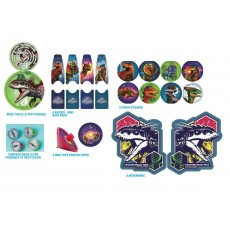 Jurassic World Bookmarks, Stickers, Kazoos, Compass Rings, Mini Tops & Maze Puzzles Favours