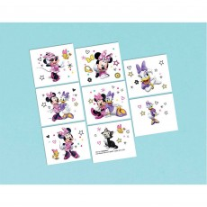 Minnie Mouse Happy Helpers Tattoo Favours 5cm x 4cm 8 Tattoos