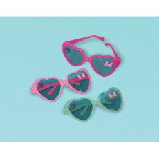 Minnie Mouse Happy Helpers Glitter Heart Glasses Favours Pack of 6