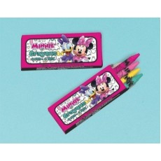 Minnie Mouse Happy Helpers Mini Crayons Favours Pack of 12