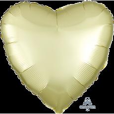 Heart Satin Luxe Pastel Yellow Standard HX Foil Balloon 45cm