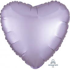 Lilac Party Decorations - Shaped Balloon Satin Luxe Pastel Lilac Heart