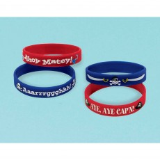 Pirate's Treasure Rubber Bracelet Favours Pack of 4