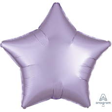 Lilac Party Decorations - Shaped Balloon Satin Luxe Pastel Lilac Star