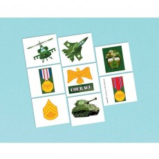 Camouflage Tattoo Favours 5cm x 4cm 8 Tattoos
