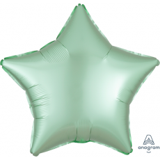 Green Satin Luxe Mint  Shaped Balloon