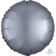 Grey Party Decorations - Foil Balloon Satin Luxe Graphite 45cm