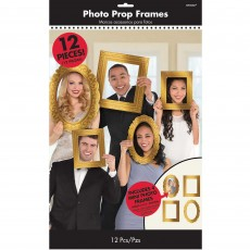 New Year Gold Frames Booth Photo Props