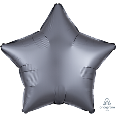 Silver Satin Luxe Graphite Standard XL Shaped Balloon