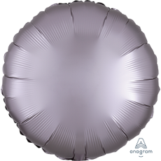 Grey Party Decorations - Foil Balloon Satin Luxe Greige 45cm