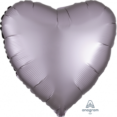 Grey Satin Luxe Greige Standard HX Shaped Balloon