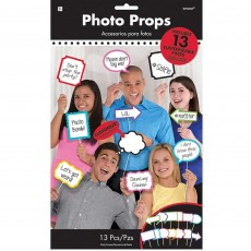 Misc Occasion Photo Booth Signs Photo Props Pack of 13