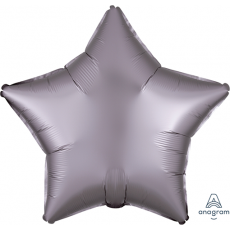 Silver Satin Luxe Greige Standard XL Shaped Balloon