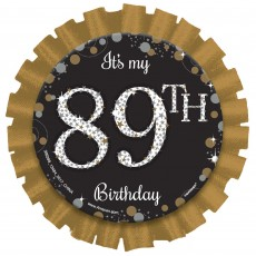 Happy Birthday Party Supplies - Sparkling Celebration Button Badge