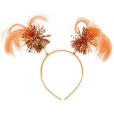 Orange Ponytail Headbopper Head Accessorie