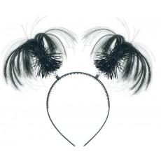 Black Party Supplies - Ponytail Headbopper