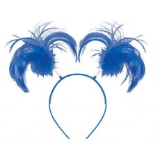 Blue Party Supplies - Ponytail Headbopper Blue