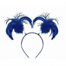 Blue Navy Ponytail Headbopper Head Accessorie