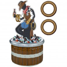 Cowboy & Western Ring Toss Game Inflatable Cooler