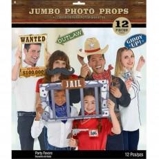 Cowboy & Western Jumbo Photo Props Pack of 12