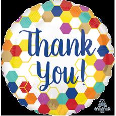 Thank You Party Decorations - Foil Balloon Standard HX Geometric