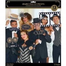 Glitz & Glam Black & Gold Jumbo Photo Props