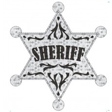 Cowboy & Western Large Sheriff Badge Costume Accessorie