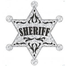 Cowboy Party Decorations Large Sheriff Badge