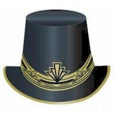 Glitz & Glam Black & Gold Top Hat Head Accessorie