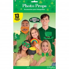 St Patrick's day Photo Props Pack of 13