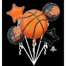 Basketball Fan Bouquet Slam Dunk! Foil Balloons Pack of 5