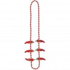 Mexican Fiesta Chilli Pepper Necklace Costume Accessorie