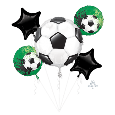 Soccer Bouquet Goal Getter Foil Balloons Pack of 5