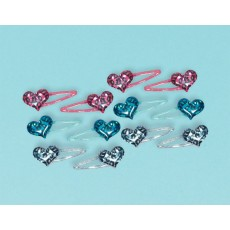 Rocker Princess Heart Hair Clip Favours