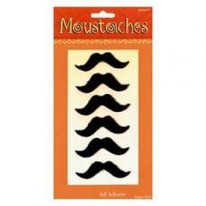 Mexican Fiesta Black Moustache Head Accessories