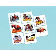 Incredibles 2 Tattoo Favours