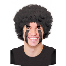 Black Curly Wig Head Accessorie