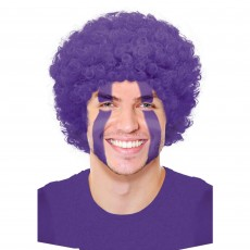 Purple Curly Wig Head Accessorie