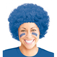 Blue Curly Wig Head Accessorie