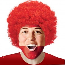 Red Party Supplies - Curly Wig