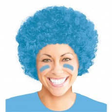 State of Origin Light Blue Curly Wig Head Accessorie