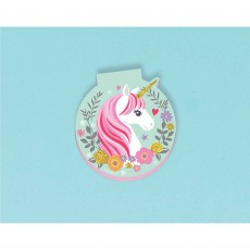 Magical Unicorn Die Cut Notepad Favour