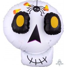 Halloween SuperShape EZ Fill Multi-Balloon 3D Cute Skull Shaped Balloon