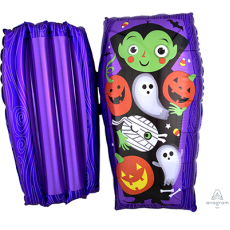 Halloween SuperShape Open Coffin Dracula & Friends Shaped Balloon