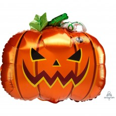 Halloween Standard XL Frightful Pumpkin Foil Balloon