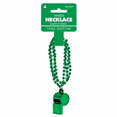 Green Party Supplies - Whistle On Chain Necklace