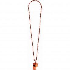 Orange Party Supplies - Whistle on Chain